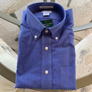 NEW Mens LLBean Blue Button-Up Shirt Size 16 1/2